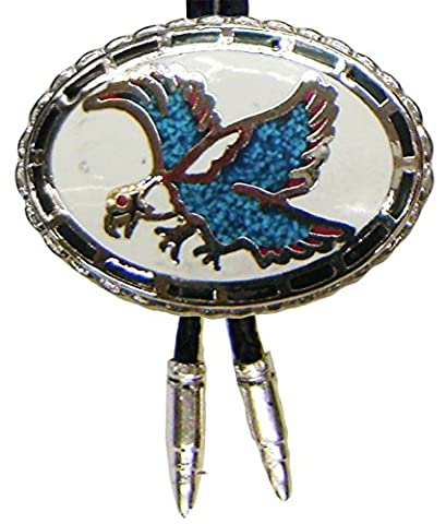 Modestone Unisex Bolo Flying Eagle Aqua & Silver Bullets O/S Silver