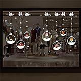 LianLe®DIY Décoration Murale fête Noël Sticker Mural PVC Fenêtre Décoration Stickers Art 50*70CM...
