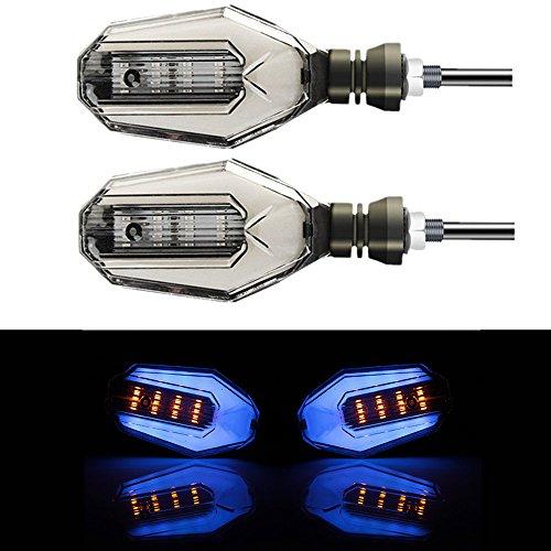 2x Motorrad Blinker Indikatoren DRL Tagfahrlicht DC 12V Wasserdicht Universal für Motorräder