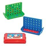 Giochi da Tavolo Natalizi con Filetto a 4 per Bambini, Giochi e Giocattoli per Bambini Piccoli per un Natale Perfetto (Confezione da 6)