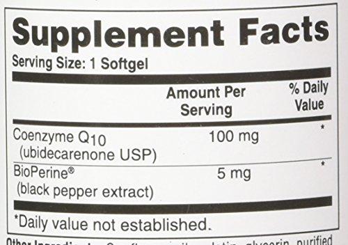 CoQ10 w/BioPerine 100mg 360 Softgels High Absorption, Non-GMO, Soy-Free, 100% Natural Coenzyme Q-10