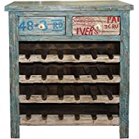 Comparador de precios Casa-Padrino Wine Cabinet with 2 Drawers - Antique Style Vintage Look Wood - precios baratos
