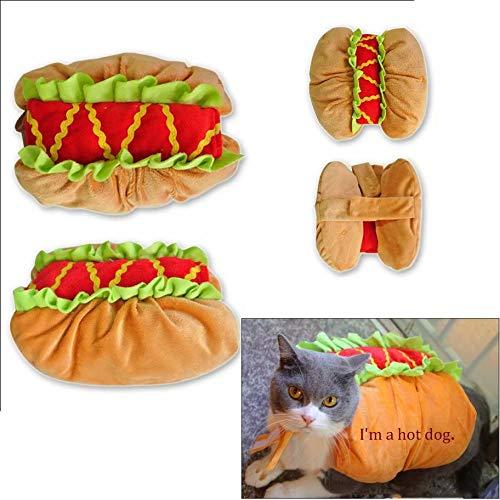 qiaoniuniu Pet Halloween Kostüme für Hunde Katzen Hot Dog Kleidung Puppy Weihnachten Party Foto, Medium (Dogs Hot De Halloween)