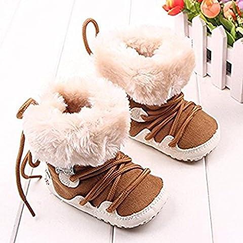 Blaux Botines del bebé de los zapatos calientes del niño recién nacido antideslizante piel de imitación de ante suave con suela de Prewalker