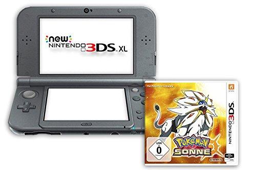 New Nintendo 3DS XL metallic schwarz (TN Variant) & Pokémon Sonne – [3DS]