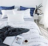 Rosseae Bettwäsche-Set von 6pcs König Größe Tencel Bettwäsche Set weiß/blau Farbe Bettwäsche hilft Verhindern Nacht schwitzt und empfindliche Haut umweltfreundlich (Farbe : Weiß, Größe : Medium)