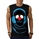Headphone Skull Face Clown Nose Men NEW S-2XL Sleeveless T-shirt | Wellcoda