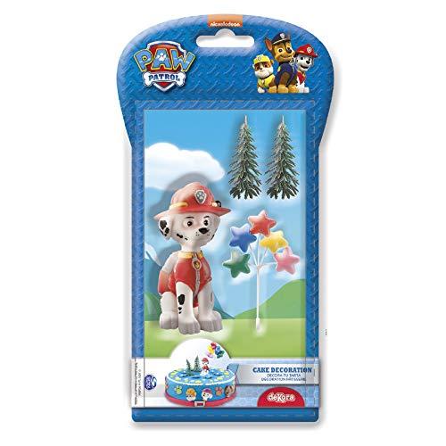 Paw Patrol 302049Kit di figurine decorazione per torta plastica rosso 3X 5X 9Cm