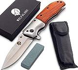 Wolfblood Klappmesser - extra scharfes Taschenmesser mit Schleifstein und...