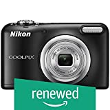 (Renewed) Nikon Coolpix A10 Point and Shoot Digital Camera (Black) with 16GB Memory Card, Camera Case and Rechargeable Batteries