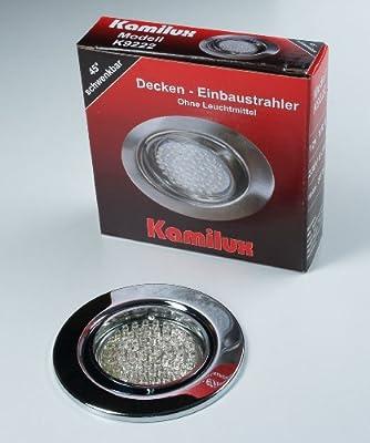 8 x LED Einbauleuchte Einbauspot chrom 60er LED-Spot Tom 230V Warmweiss von Kamilux GmbH