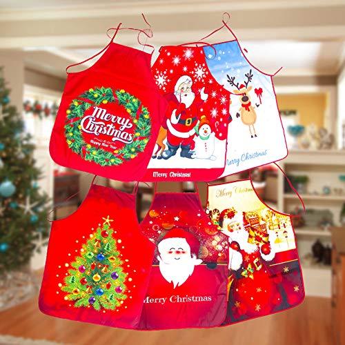 Clearance Kostüm Größe Plus - YSoutstripdu Frohe Weihnachtsbaum Santa Claus Gedruckt Küchenschürze, Dekorative Kochen Backen Kostüm DNone