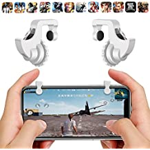 Gadgets WRAP Mobile Phone Gamepad Trigger Pubg Mobile Gaming Battleground Rules Of Survival Online Gaming Accessories ROS Gaming Accessories Fire Shooter Controller Button Aim Key Screw Style - White