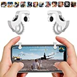 GADGETS WRAP Mobile Phone Gamepad Trigger Fire Shooter Controller Button Aim Key Screw Style (White, lock-wht-trigger)