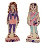 Melissa & Doug decorate-your-own Wooden Fashion Dolls Craft kit