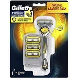 Gillette Fusion Proshield Flexball Kit de Afeitar para Hombre, Maquinilla + 3 Cuchillas de Recambio