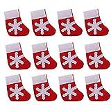 SEVENHOPE Weihnachten Socken Utensilien Besteck Taschen Tischdekoration Gabeln Taschen Candy Taschen
