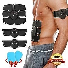 Idea Regalo - Muscoli addominali , Koooper Elettrostimolatore EMS Stimolatore Muscolare Per Addome , Offerta 2 gels - Cintura di massaggio pancia / coscia / braccio - Regalo per dimagrire, Uomo Donna