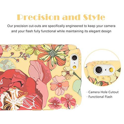 FOGEEK Schutzhülle iPhone 6 Hülle : Leuchtet im Dunkeln Blume gedruckt Matte Ultra Slim und leichte Tasche Schutzhülle für iPhone 6/6s-F - 4