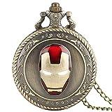 Herren Taschenuhr, Iron Man, Quarz-Taschenuhr, Halskette, Moderne Uhren, analoge Uhr, Geschenk für Männer