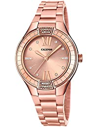 Calypso | Damenarmbanduhr Quarzuhr Kunststoffuhr mit Kunststoffband rose analog K5720/3