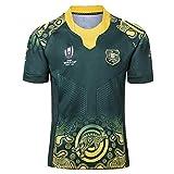 Alaeo Weltmeisterschaft Australien Heim Auswärts Rugby Trikots Grün Rugby Fans T-Shirts Herren American Football Enthusiast Kurzarm Sweatshirts T-Shirt,Grün,5XL