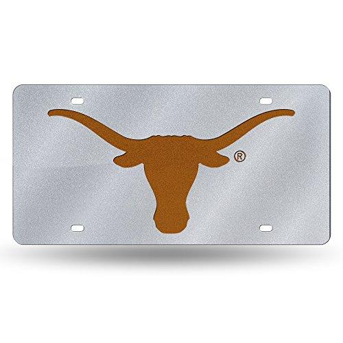 Rico NCAA Arkansas Razorbacks Bling Laser Cut Auto Tag Plate, Silber, 12 x 6-Inch - Arkansas Razorbacks Auto