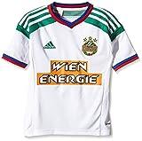 adidas Jungen Spieler-Auswärtstrikot Rapid Wien Replica, Weiß/Tw_Gre/Toro/Cobal, 164, F80916