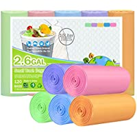 XUXRUS Bolsas de basura pequeñas - 4-6 galones de cocina biodegradables bolsas de basura bolsas de basura para cocina, baño, dormitorio, sala de estar, oficina, 120 unidades para 15-25 litros
