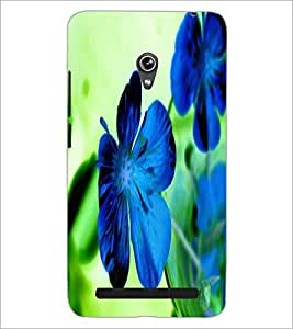 PrintDhaba Flower D-2436 Back Case Cover for ASUS ZENFONE 6 A601CG (Multi-Coloured)