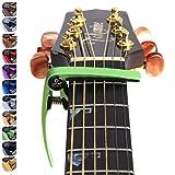 Nordell 'Pro Trigger' Schnellverschluss/wechsel Gitarren-/Ukulelen-Kapo für akustische/elektrische Gitarren grün