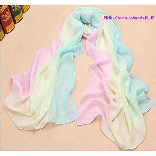 Preisvergleich Produktbild Sommer neue Chiffon Farbverlauf Schals für den Sonnenschutz , Radfahren, Strandtücher