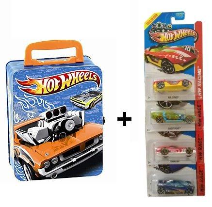Preisvergleich Produktbild Hotwheels Autosammelkoffer aus Metall 2883 inkl. 4 Hotwheels Autos