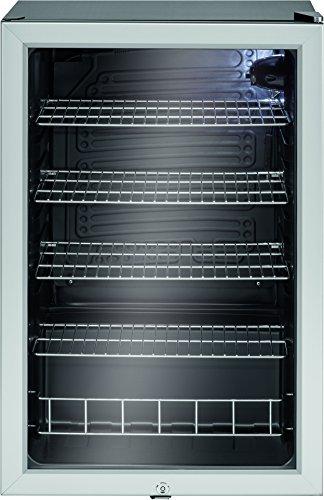Bomann KSG 238 Glastür-Getränke-Flaschen-Kühlschrank, EEK A+, 115 L, HxBxT 84,5x54x54,8 cm, 110 kWh, LED Innenraumbeleuchtung