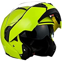 SOXON SF-99 Neon Yellow · Sport Integrale Modular-Helmet Urbano Moto Urban Cruiser