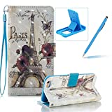 Coque pour iPhone 6S, Book Style Premium PU Cuir Dragonne Portefeuille Shell Swag...