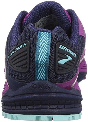 Brooks Cascadia 12, Chaussures de Running Femme Multicolore (Plum/navy/ice Blue 1b533)