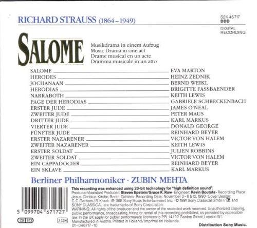 Salome / Mehta Marton [Import USA]