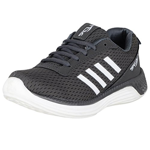 Lancer Boys Grey White Running Shoes JUNIOR-27-4