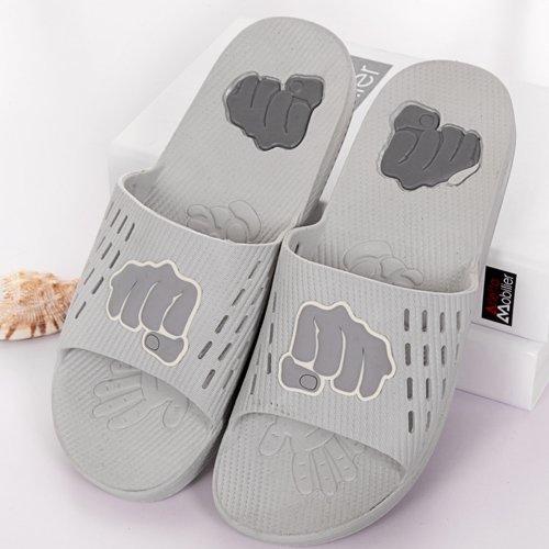 DogHaccd pantofole,L'estate uomini e donne matura cool ciabatte di plastica spessa sweet home bagno interno antiscivolo di pantofole Il grigio chiaro3