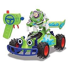 Simba Rc Toy Story Buggy 1:24, Cm.20 con Personaggio di Buzz, 2 Canali, Multicolore, Scale, 4006333058677