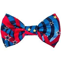 Noddy y dulces Bow Tie para collar de perro [Capitán América]