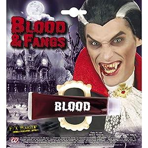 WIDMANN?Sangre gelatinoso de tubo con Dentadura Unisex-Adult, rojo, talla única, vd-wdm4031d