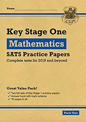 New KS1 Maths SATS Practice Papers: Pack 1 (for the 2019 tests) (CGP KS1 SATs Practice Papers) from Coordination Group Publications Ltd (CGP)