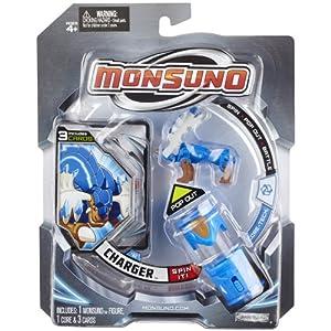 Giochi Preziosi 70145531 Monsuno Starter Pack 1 Charger - Figura, núcleo y Paquete de 3 Cartas