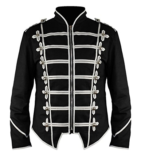 Steampunk Emo Punk Rock Goth MCR Offizier Parade Jacke (XL)