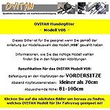 OVITAN Hundegitter fürs Auto 8 Streben universal zur Befestigung an den Kopfstützen der Vordersitze – für alle Automarken geeignet – Modell: V08 - 3