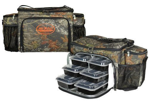 Isobag 6 Meal Management System Mossy Oak Edition/Full Camouflage (Mossy Oak Break-Up)Insulated Lunch Box/Bag by Isolator Fitness