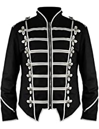 New Steampunk Emo Punk Goth MCR Military Drummer Parade Jacket