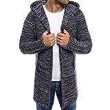 UOMOGO Maglione a maniche lunghe da uomo Cardigan Maglione casuale Pullover con cappuccio invernale da uomo slim fit Cappotto